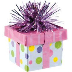 Ajándékdoboz léggömbsúly pink