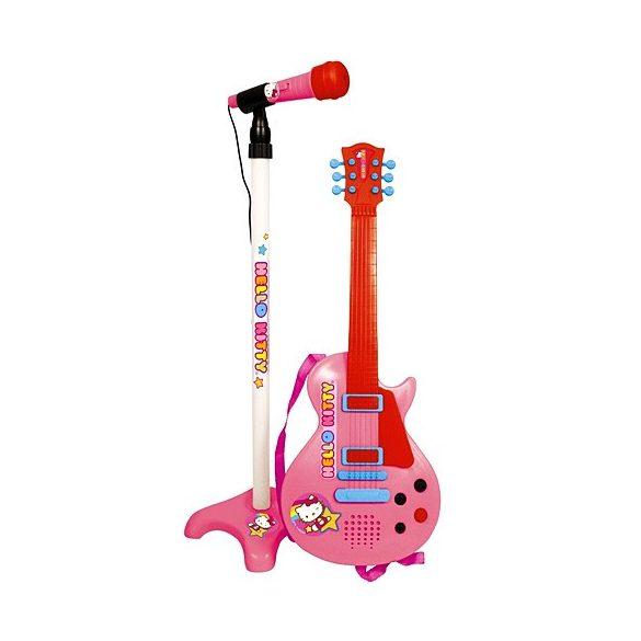 Hello Kitty elektromos gitár fejmikrofonnal