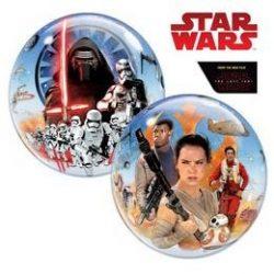 Star Wars Az Ébredő Erő Buborék Lufi, 56 cm