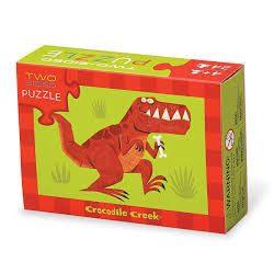 Crocodile Creek - Kétoldalas fiús puzzle 24 darabos - Dínók