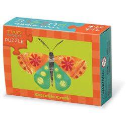 Crocodile Creek - Kétoldalas lányos puzzle 24 darabos - Piilangók és virágok (392964ASSTC)
