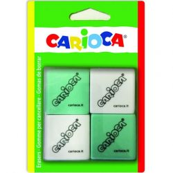 Szögletes radír szett két színnel Carioca