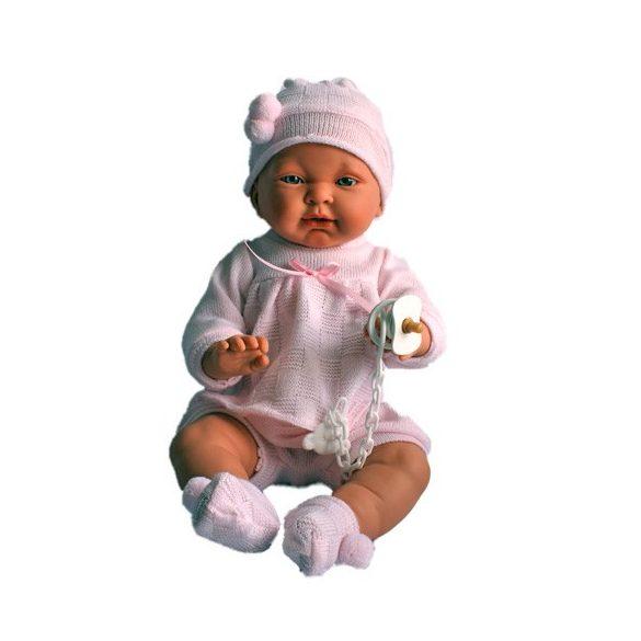 Csecsemő baba rózsaszín ruhában