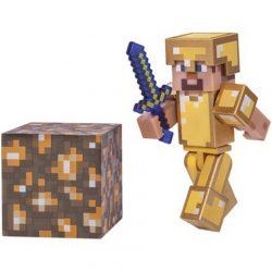Minecraft Steve arany páncélban