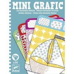 Mini grafika - Doodle colouring pictures