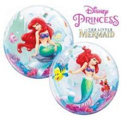 22 inch-es Disney Bubbles The Little Mermaid - A Kis Hableány Lufi