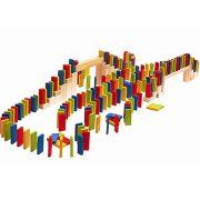 Színes dominó fajáték 200db