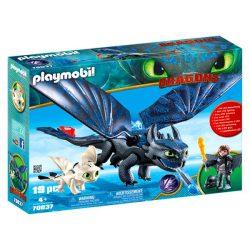 Playmobil Fényfúria és Fogatlan sárkánylovassal - Dragons  Így neveld a sárkányod