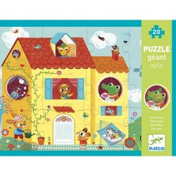 Optikai óriás puzzle - Ház, 20 db-os - Optic puzzle House