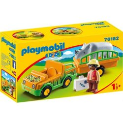 Playmobil Állatkerti autó orrszarvúval