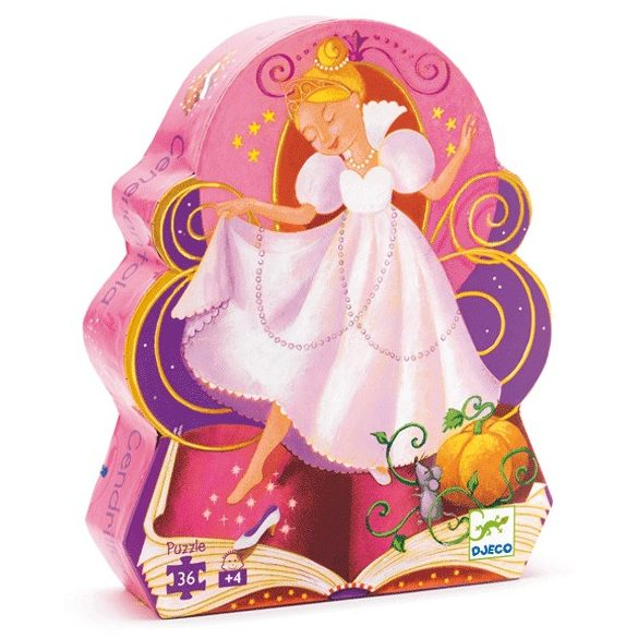 Formadobozos puzzle - Hamupipőke, 36 db-os - Cinderella
