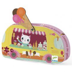 Mini puzzle - Fagyis kocsi - Ice cream truck