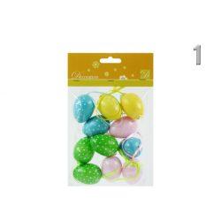 Húsvéti tojás szett színes, 11 db-os pettyes