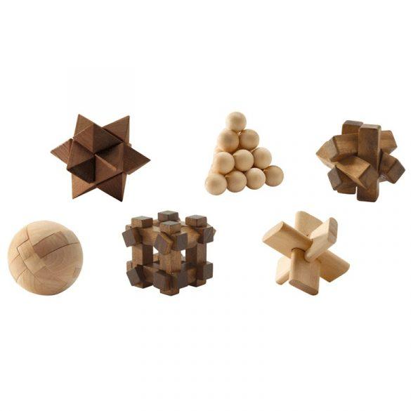 Logikai játék - Fa ördöglakatok - Woodix