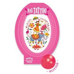 Nagy tetováló matricák - Rose India