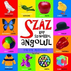 Száz kép színekkel angolul sok-sok matricával-Napraforgó