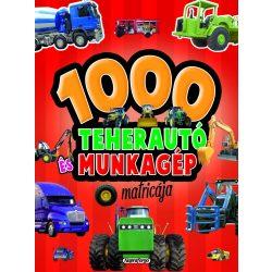 1000 teherautó és munkagép matricája - Piros Napraforgó