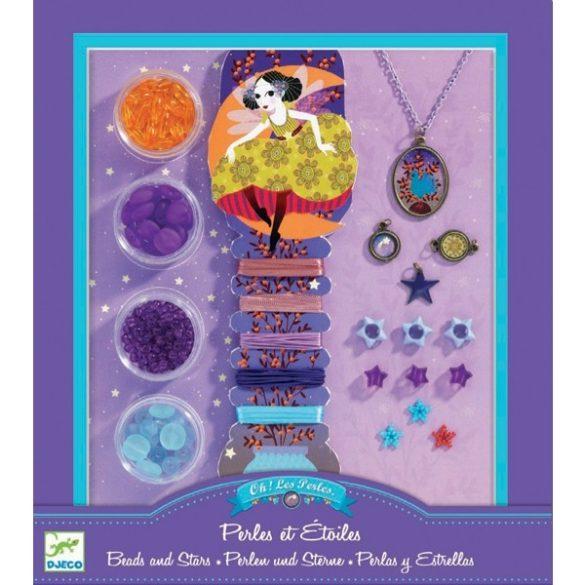 Ékszerkészító készlet - Gyöngyök és csillagok - Pearls and stars