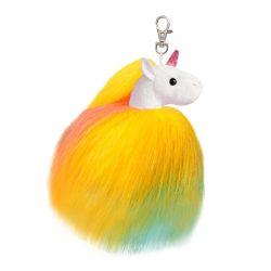 Twirly unikornis kulcstartó, színes 13 cm-Aurora
