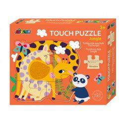 Fa tapintós puzzle Dzsungel Avenir