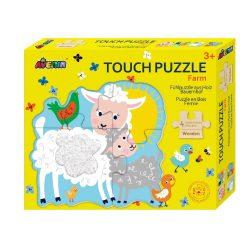 Fa tapintós puzzle, Házi állatok Avenir