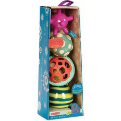 B.TOYS, Csörgő-zörgő bébi labdák, Ball-a-baloos