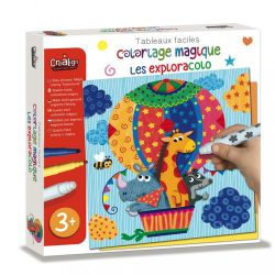 Mágikus szinező- felfedezés-Coloriage magique les exploracolo
