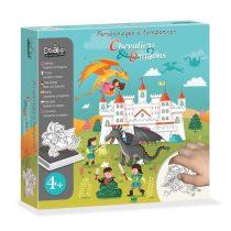 Mese Nyomdakészlet- Sárkányos és Lovagok-Chevaliers & Dragons