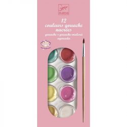 Korongos gouashe festék - 12 színű - 12 color cakes - pearly