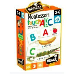 Montessori Érintős Puzzle-Angol ABC HEADU