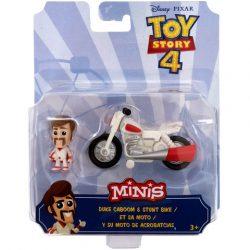 Toy Story 4: Duke Caboom karakter és kaszkadőr motorja mini figuraszett - Mattel