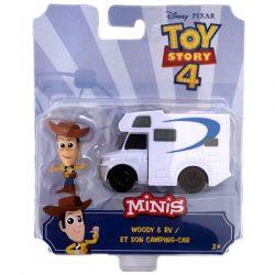 Toy Story 4: Woody karakter és kemping autója mini figuraszett - Mattel