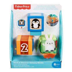 Fisher Price- Változatos anyagok állatos kocka
