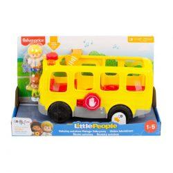 Little People Iskolabusz készségfejlesztő zenélő játék Fisher Price