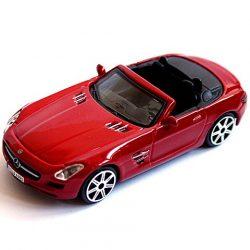 Burago:1/43 Mercedes-Benz SLS AMG Roadster- piros