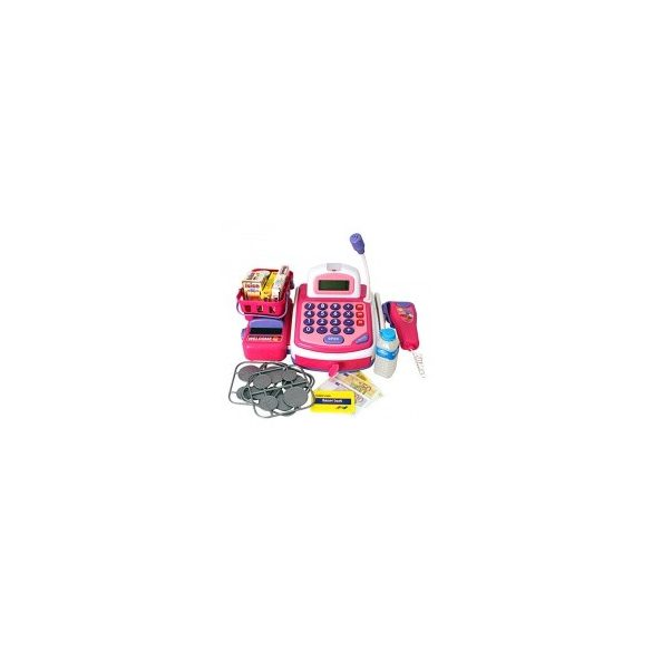 Elektronikus pénztárgép rózsaszín