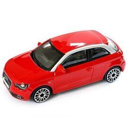 Bburago: Audi A1 piros kisautó 1/43