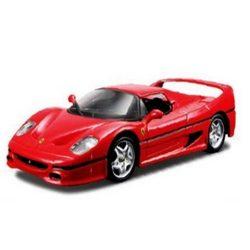 Bburago: Ferrari F50 fém autó piros színben 1/32