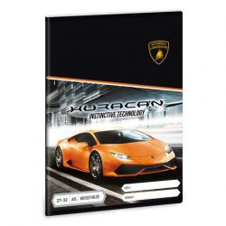 Lamborghini Huracán kockás füzet A/5
