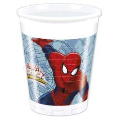 Pókember műanyag pohár 200ml 8db