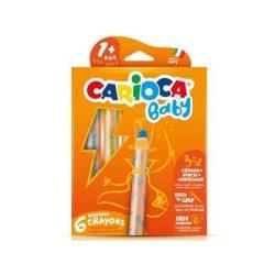 Carioca: 3 az 1-ben bébi zsírkréta 6db-os készlet