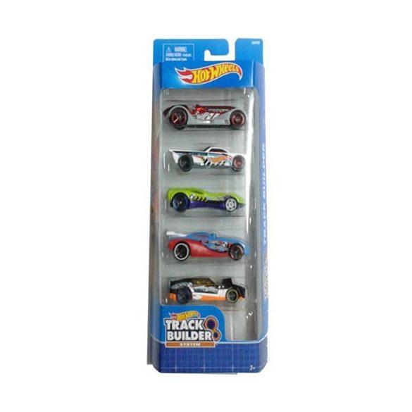 Hot Wheels: Pályaépítő 5db-os kisautó szett - Mattel