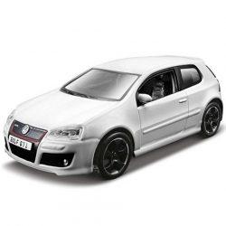 Bburago: Volkswagen Golf GTI fehér fém autómodell 1/32