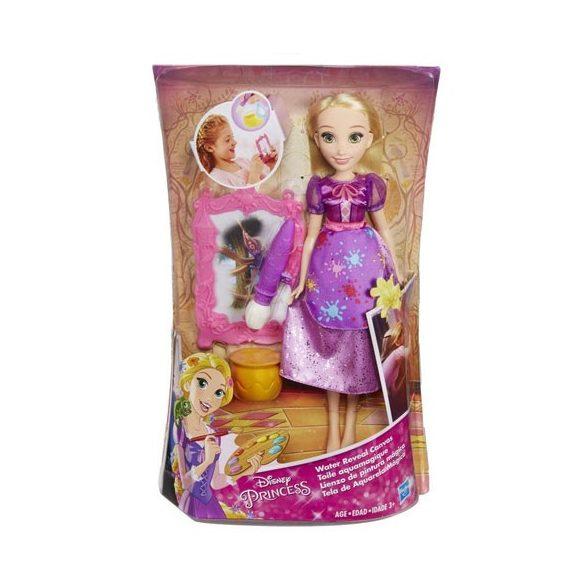 Disney Hercegnők: Aranyhaj baba mágikus festő szettel - Hasbro