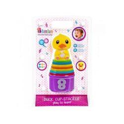 Kacsás pohárrakosgató fejlesztő bébi játék - B-Toys