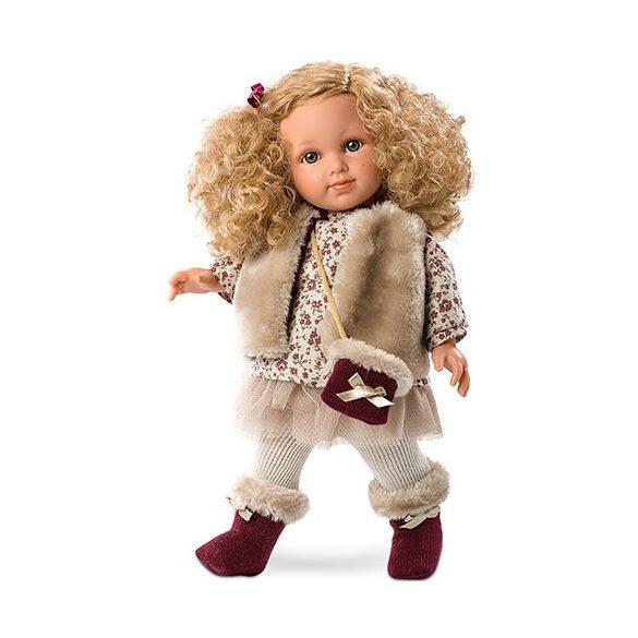 Elena lány baba szörmés ruhában 35cm