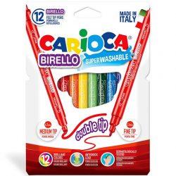 Carioca Színes filctoll szett kétféle fejjel 12 db-os