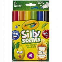 Crayola: Illatos vágott hegyű filctoll 6 db-os