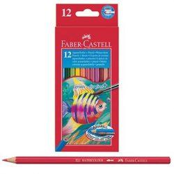 Faber-Castell: Aquarell színesceruza készlet 12db + 1db ecset