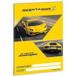 Lamborghini Aventador S sárga A/5 leckefüzet
